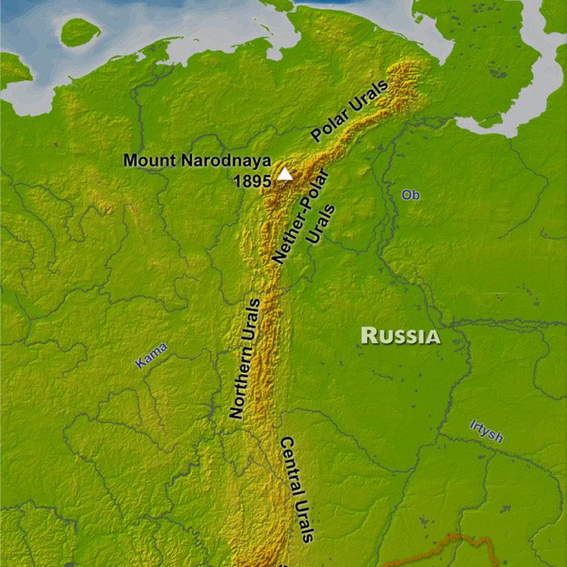 wyprawa na Ural Polarny Rosja 4x4 - mapa
