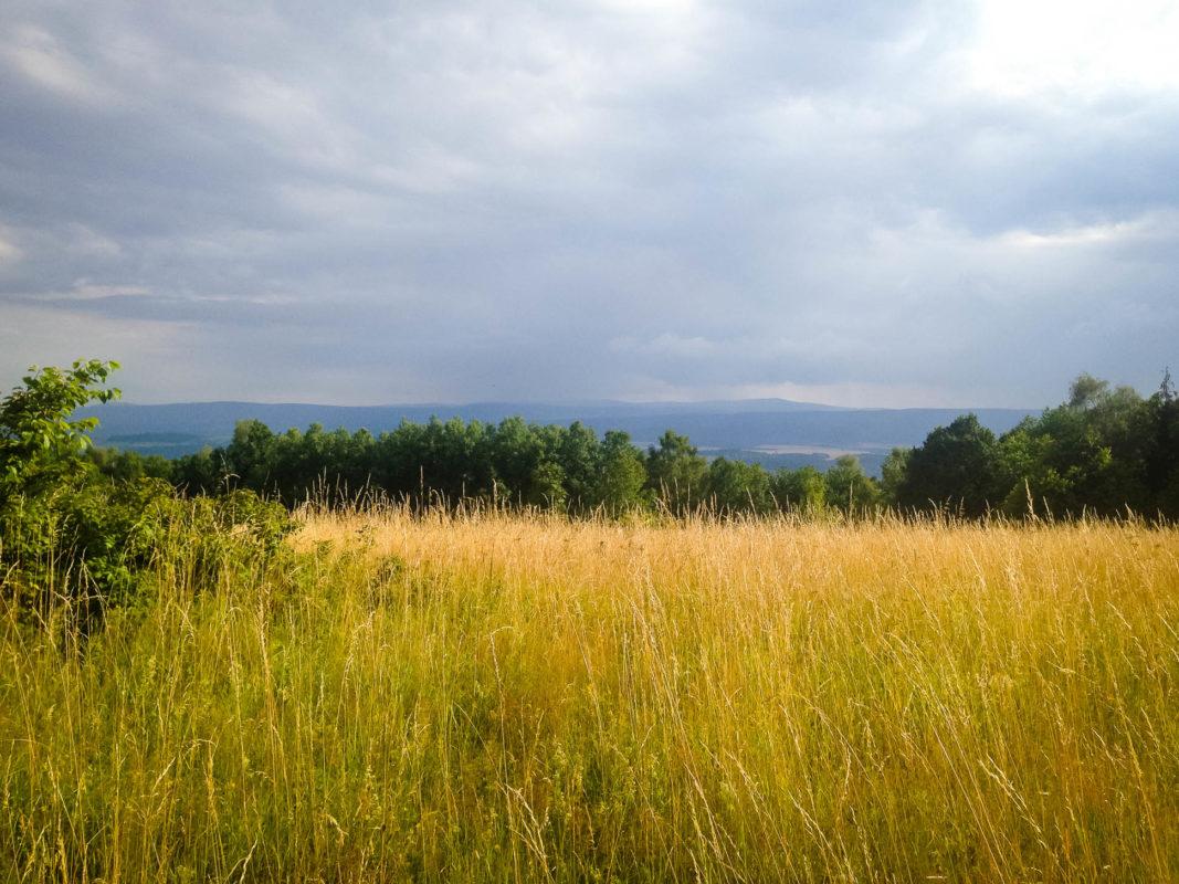 łąka i wzgórza